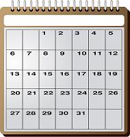 カレンダー小